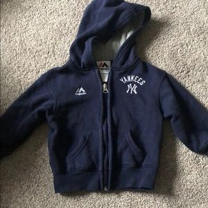 Baby/toddler Yankee hooded zip up 2T
